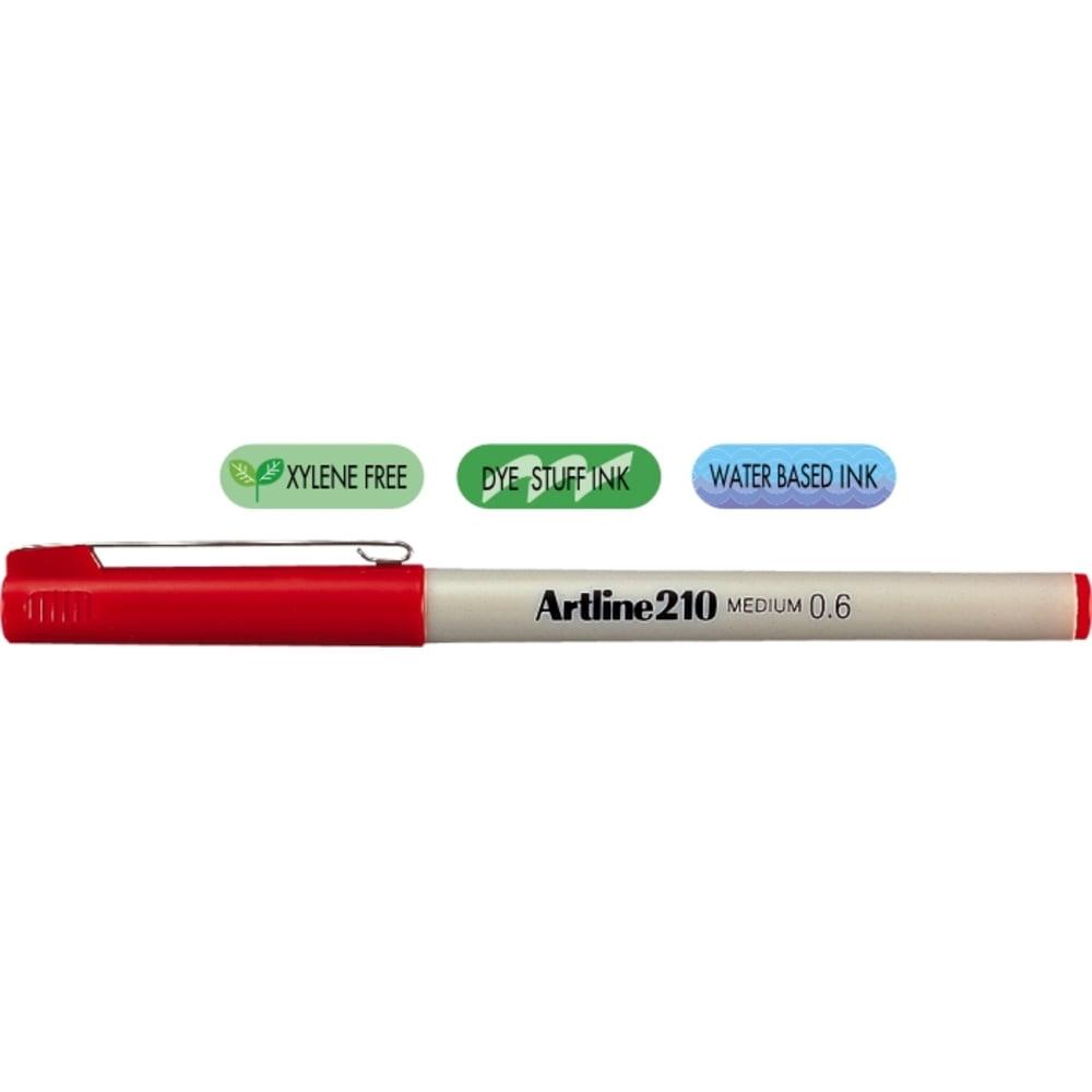 Liner ARTLINE 210, varf fetru 0.6mm - rosu