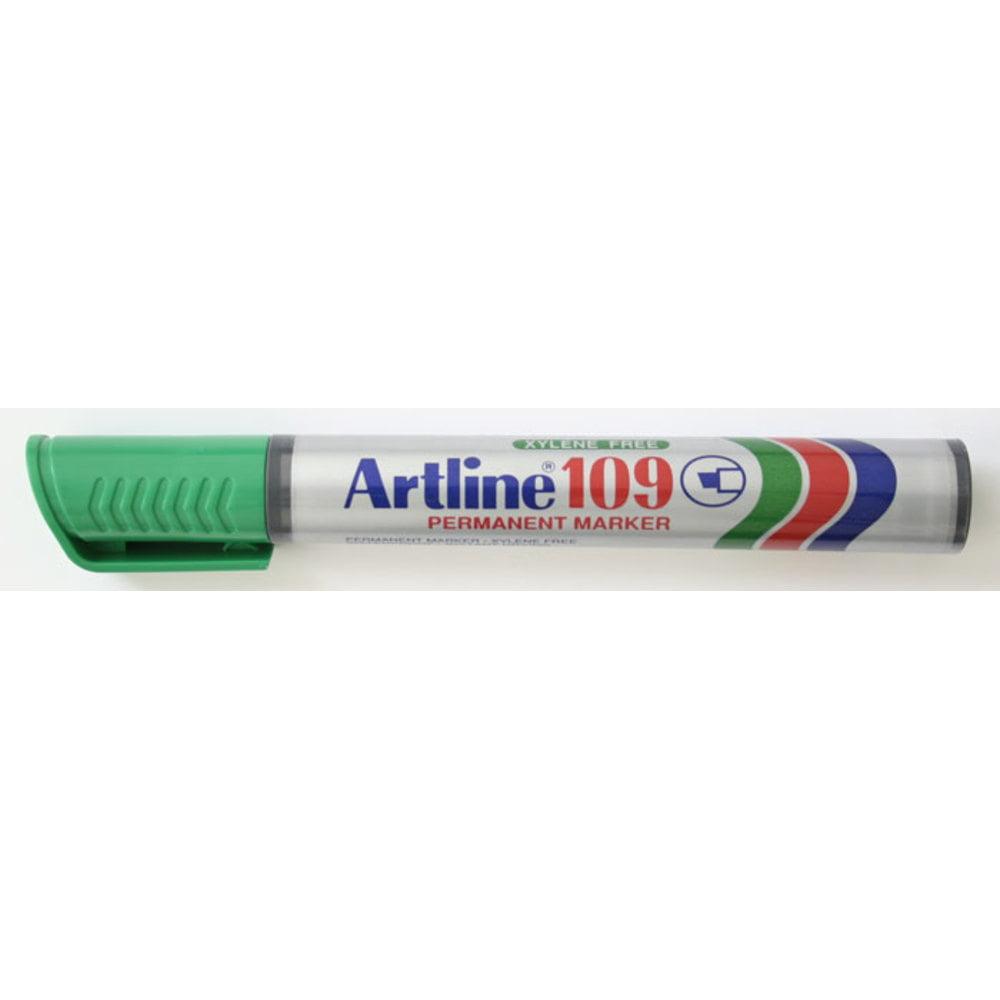 Permanent marker ARTLINE 109, corp plastic, varf tesit 2.0-5.0mm - verde