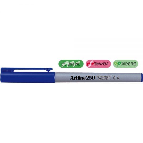Permanent marker ARTLINE 250, corp plastic, varf rotund 0.4mm - albastru