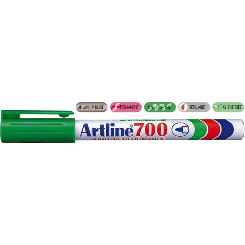 Permanent marker ARTLINE 700, corp metalic, varf rotund 0.7mm - verde