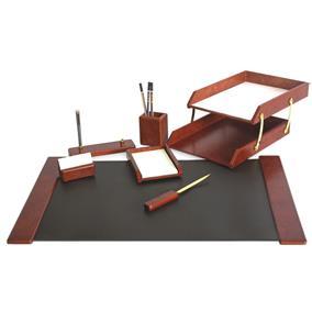 Set birou lux din lemn FORPUS, 7 piese