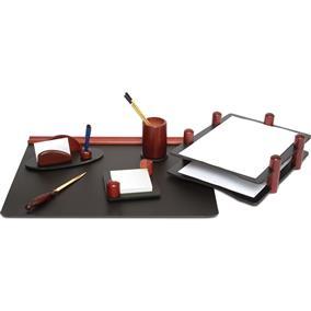 Set birou lux din lemn FORPUS, 6 piese