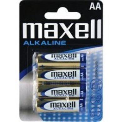 Baterii alcaline MAXELL, LR6/AA, 4 buc/set