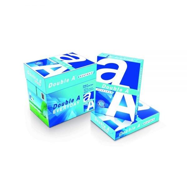 Hartie alba pentru copiator A4, 70g/mp, 500coli/top, clasa A, Double A, 5 top/cutie