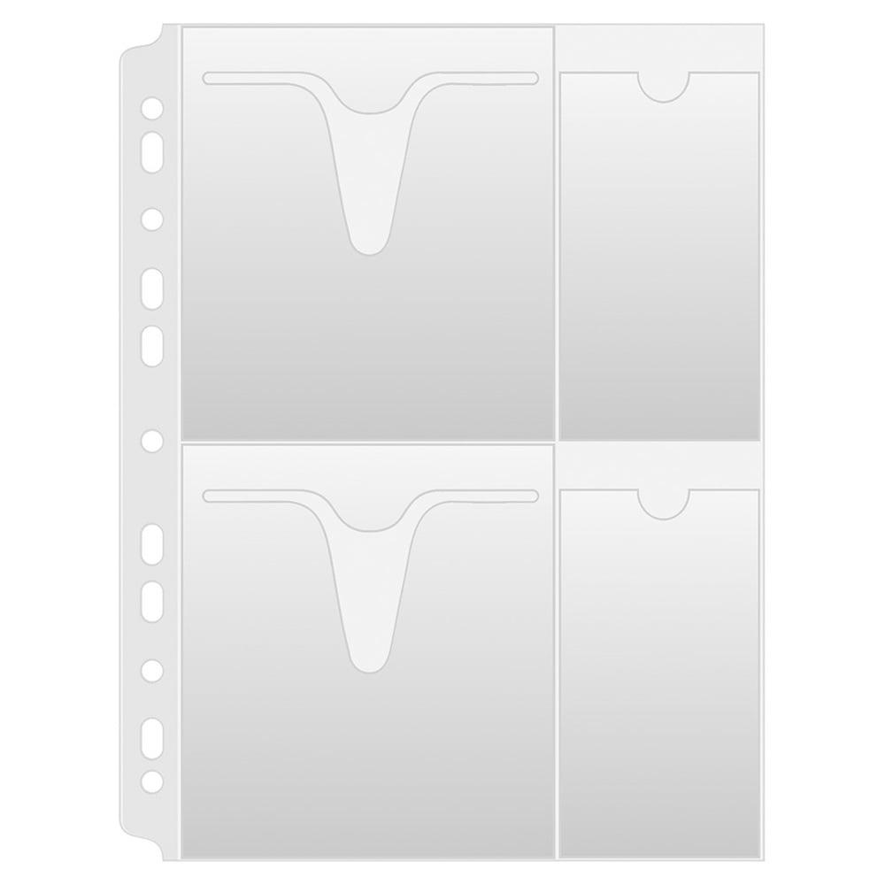 Folie protectie A4, pentru 4 CD/DVD, 25buc/set, DONAU