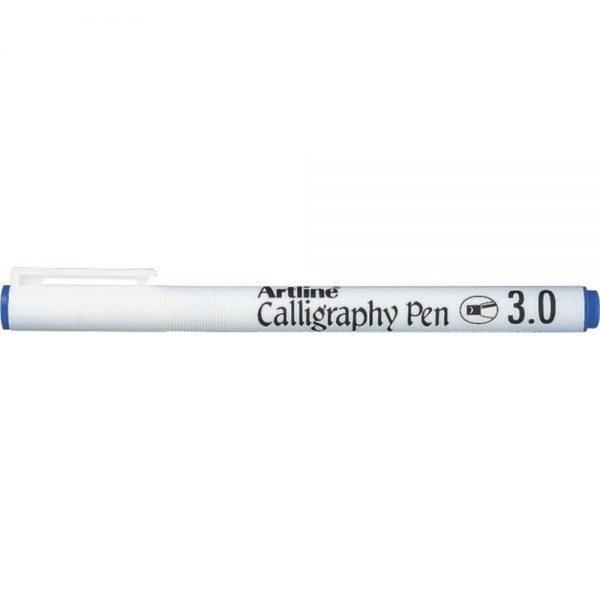 Marker ARTLINE Calligraphy, varf tesit din fetru 3.0mm - albastru