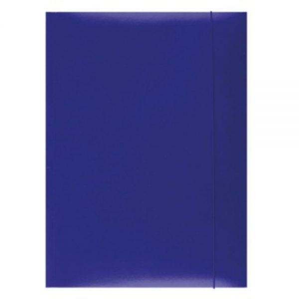 Mapa din carton plastifiat cu elastic, 300gsm, Office Products - albastru