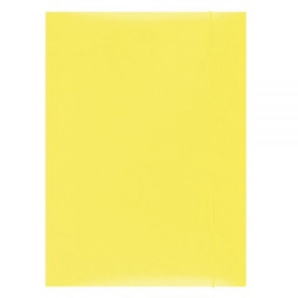 Mapa din carton plastifiat cu elastic, 300gsm, Office Products - galben
