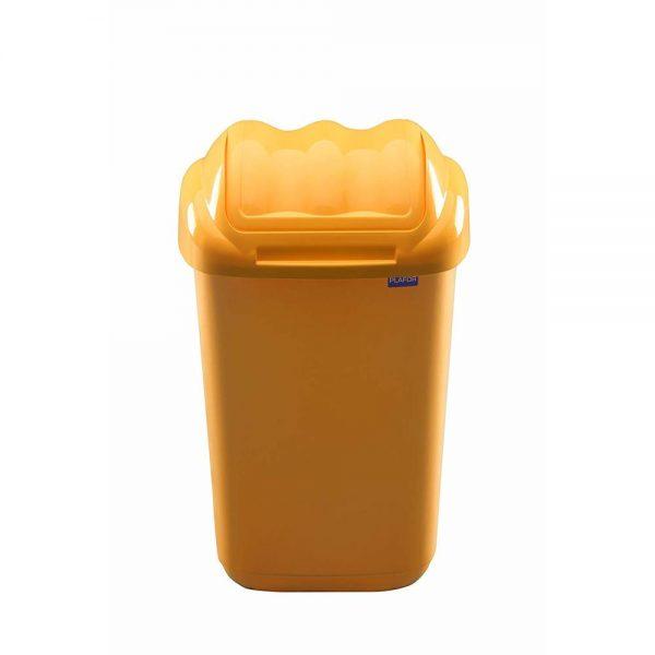 Cos plastic cu capac batant, capacitate 50l, PLAFOR Fala - galben