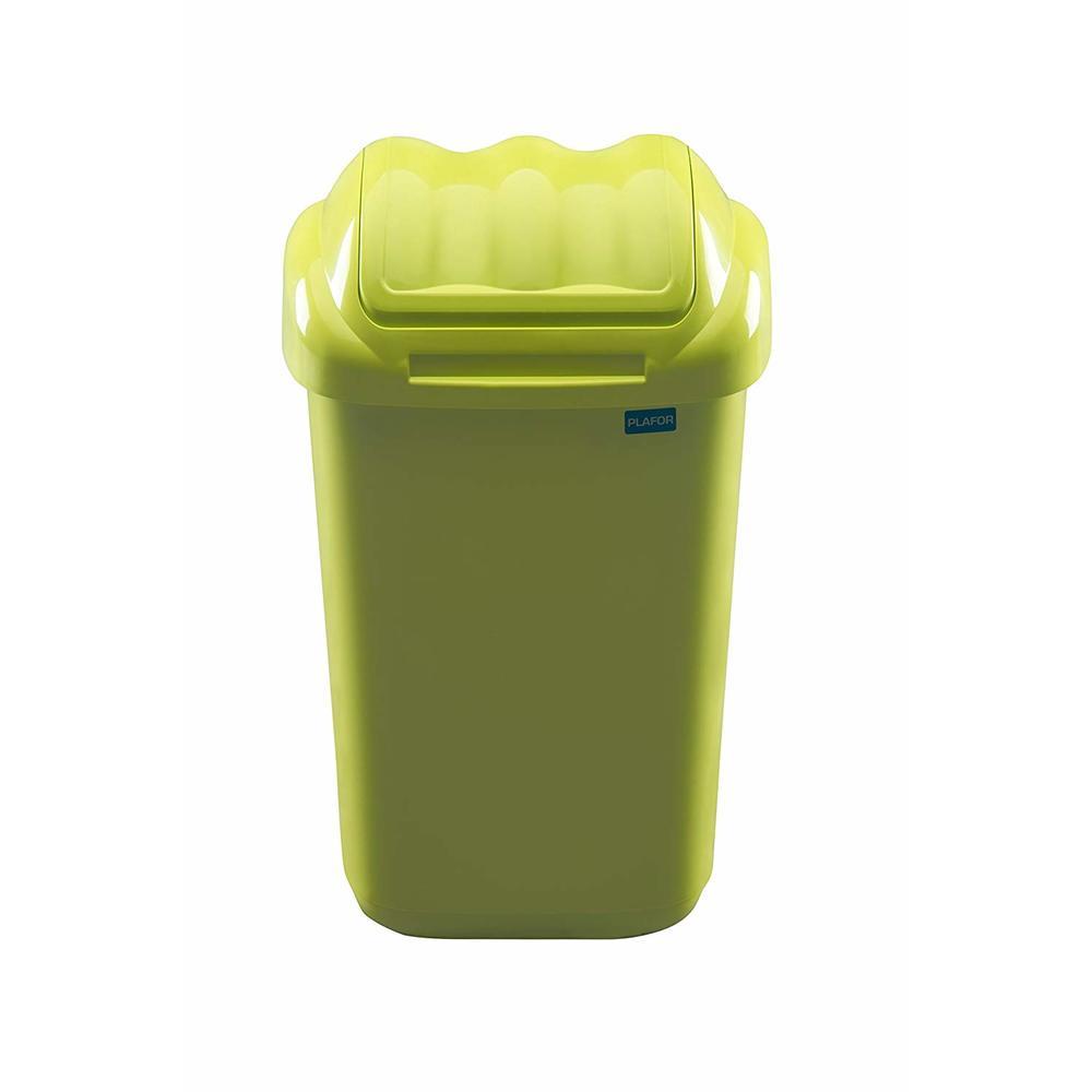 Cos plastic cu capac batant, capacitate 50l, PLAFOR Fala - verde