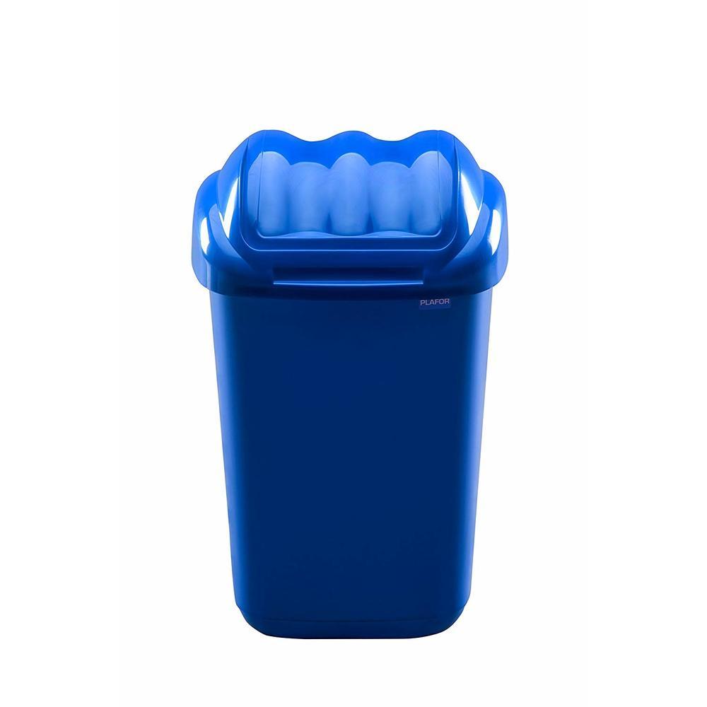 Cos plastic cu capac batant, capacitate 50l, PLAFOR Fala - albastru