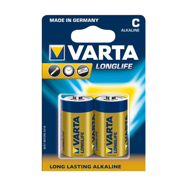 Baterii Varta LR14 Longlife Extra, 2 bucati/set