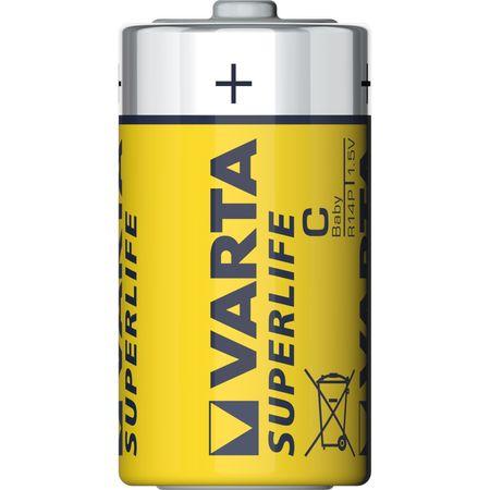 Baterie zinc carbon R14 (C) 2bucati/blister Superlife Varta
