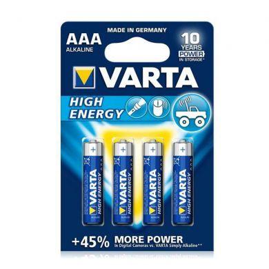 Baterii alcaline VARTA High Energy LR3/AAA, 4 buc/set