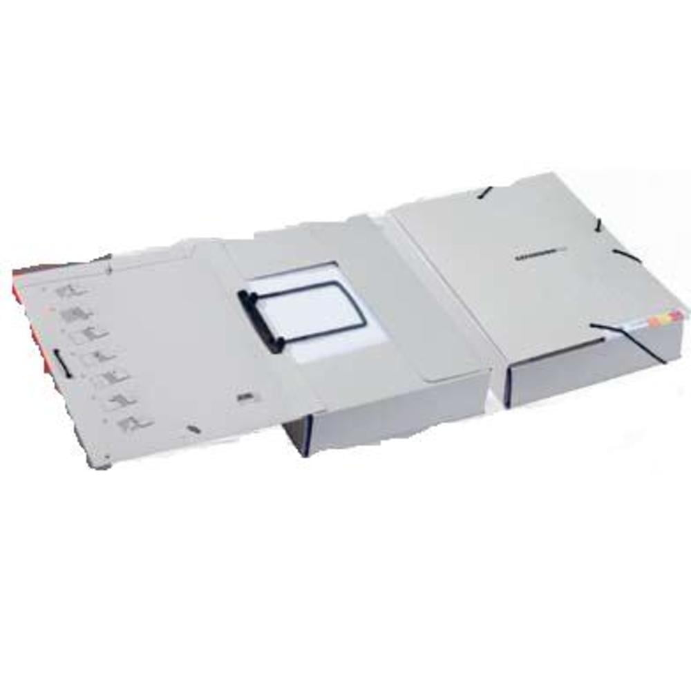 Dosar extensibil din carton, cu elastic si alonja arhivare de mare capacitate, JALEMA - gri