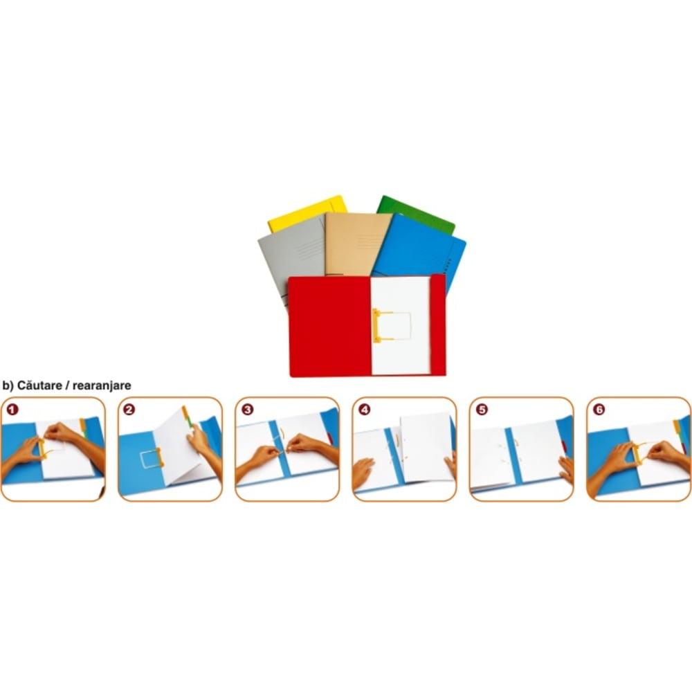 Dosar carton color cu alonja arhivare de mare capacitate, JALEMA Secolor - verde