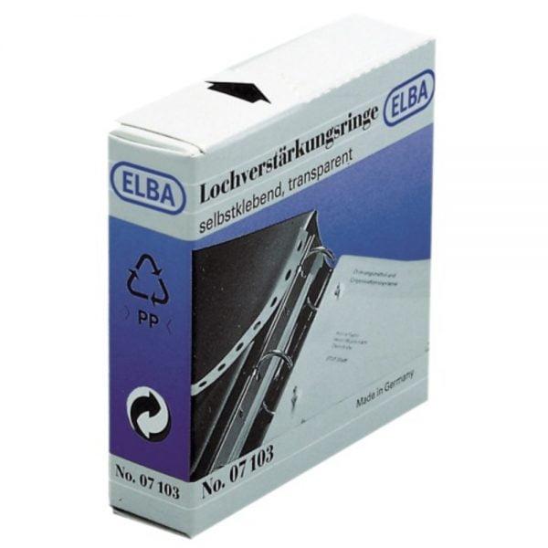 Inele PP autoadezive pentru intarire gauri, D15mm, 500buc/set, ELBA