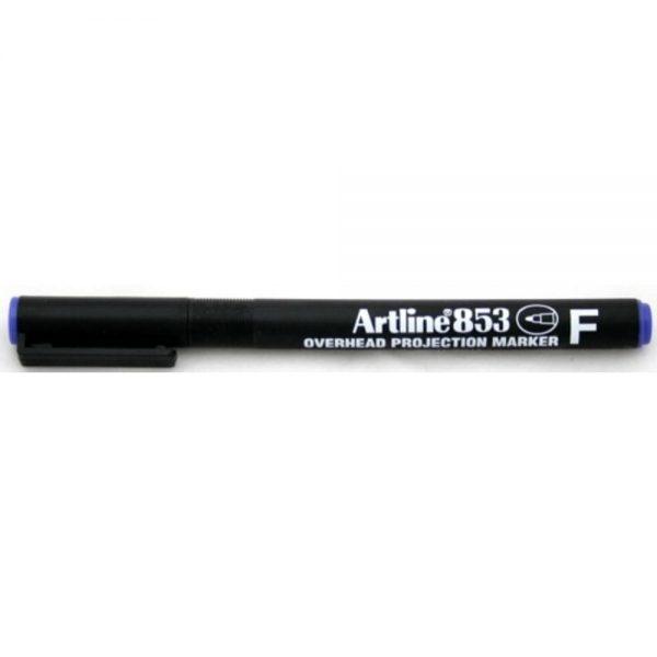 OHP Permanent marker ARTLINE 853, varf fin - 0.5mm - albastru