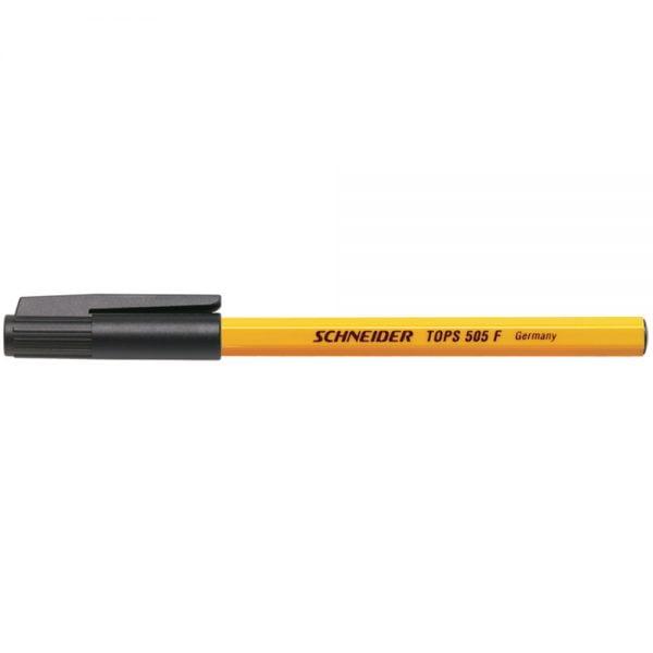 Pix SCHNEIDER Tops 505F, unica folosinta, varf fin, corp orange - scriere neagra
