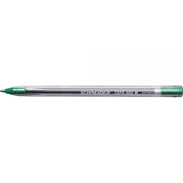 Pix SCHNEIDER Tops 505M, unica folosinta, varf mediu, corp transparent - scriere verde