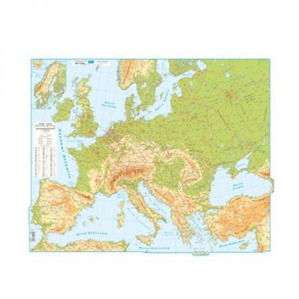Harta plastifiata 50 x 70 cm - Europa fizica - H324