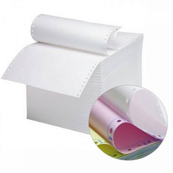 Hartie imprimanta autocopiativa, A3, 3 exemplare, alb/color/color, 600 set/cutie