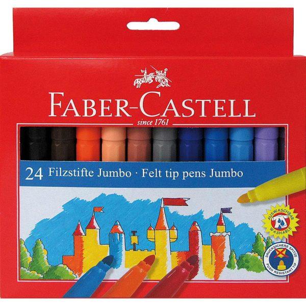 Carioci Jumbo 24 culori/set FABER-CASTELL
