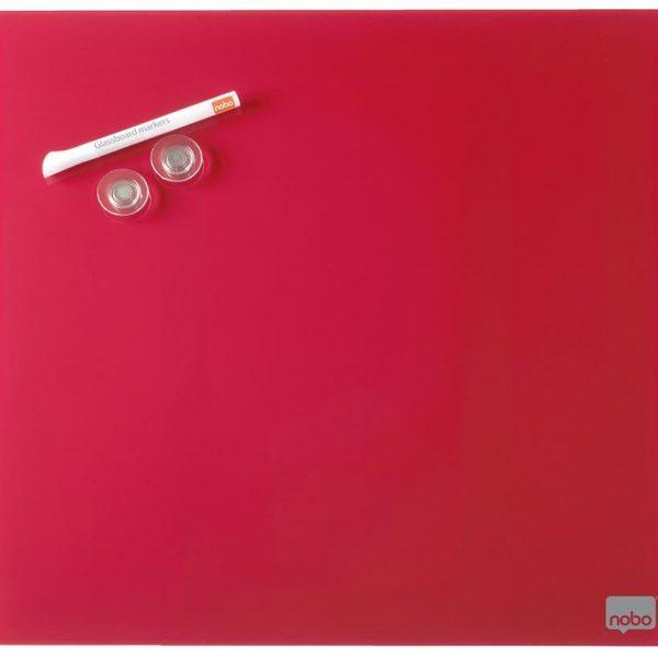 Tabla Diamond magnetica din sticla 45 x 45 cm rosu Nobo
