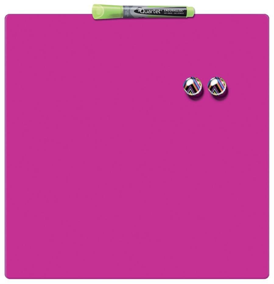 Tabla magnetica patrata 36 x 36 cm roz Nobo