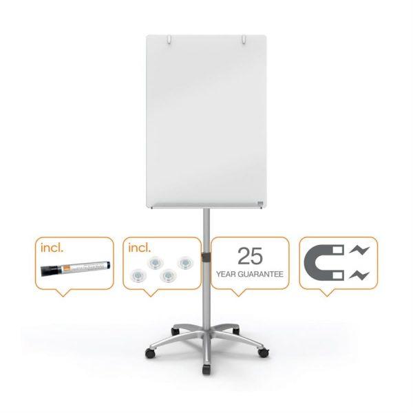 Flipchart magnetic mobil 70 x 100 cm, NOBO Prestige