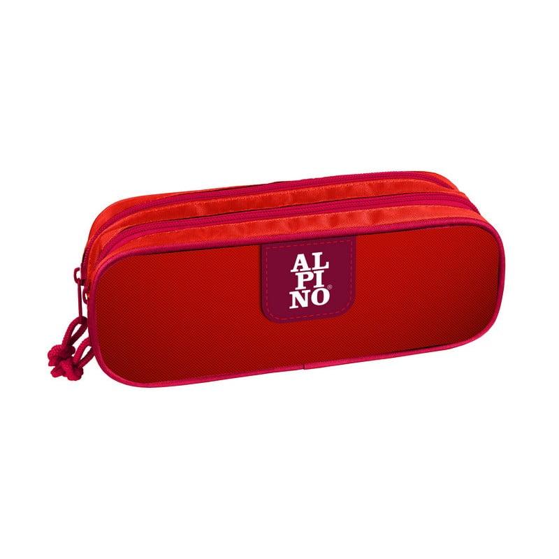 Penar rectangular dublu cu 2 fermoare, ALPINO Red