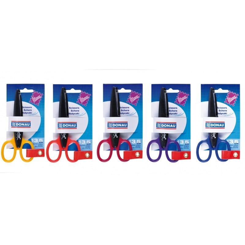 Foarfeca decorativa pentru copii, 13.5cm, in blister, DONAU - culori asortate