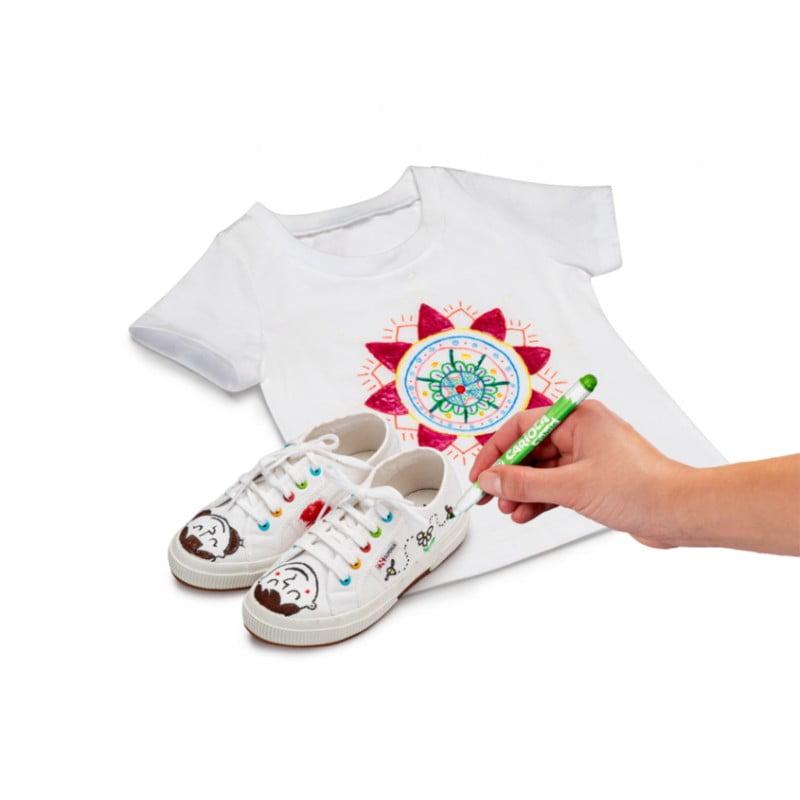 Carioca pentru textile, rezistent la spalare, 10 culori/cutie, CARIOCA Fabric