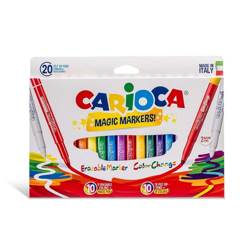 Carioca lavabila, varf gros 6mm, 9+9+2/cutie, CARIOCA SteroMagic