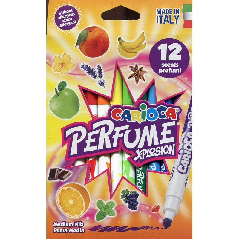 Carioca lavabila parfumata, 12 culori/cutie, CARIOCA