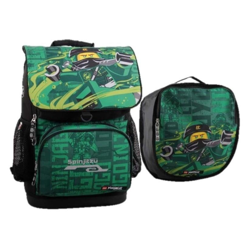 Ghiozdan scoala Optimo + sac sport, LEGO Core Line - design NinjaGo Energy