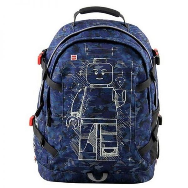 Rucsac scoala LEGO Core Line, Tech Teen - design Minifigures Blue Camo