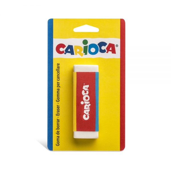 Radiera dreptunghiulara, 1 buc/blister, CARIOCA - alba