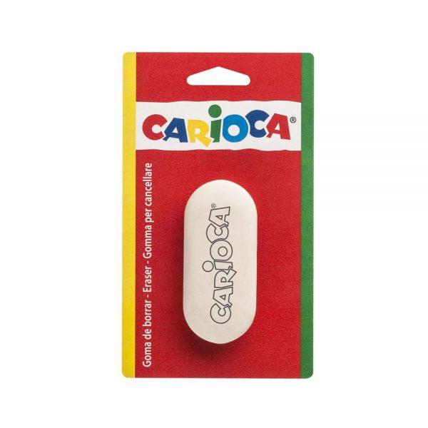Radiera rotunjita, 1 buc/blister, CARIOCA - alba