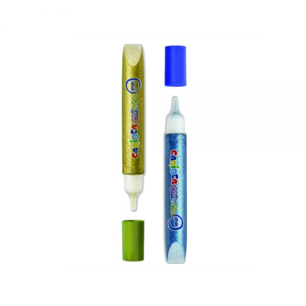 Lipici Glitter lavabil, 6 culori/blister, CARIOCA Glitter Glue Neon