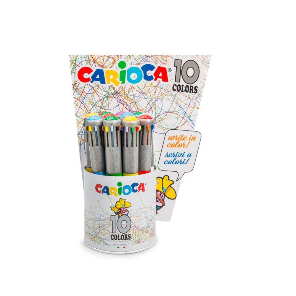 Pix cu 10 culori, corp gri/color, CARIOCA
