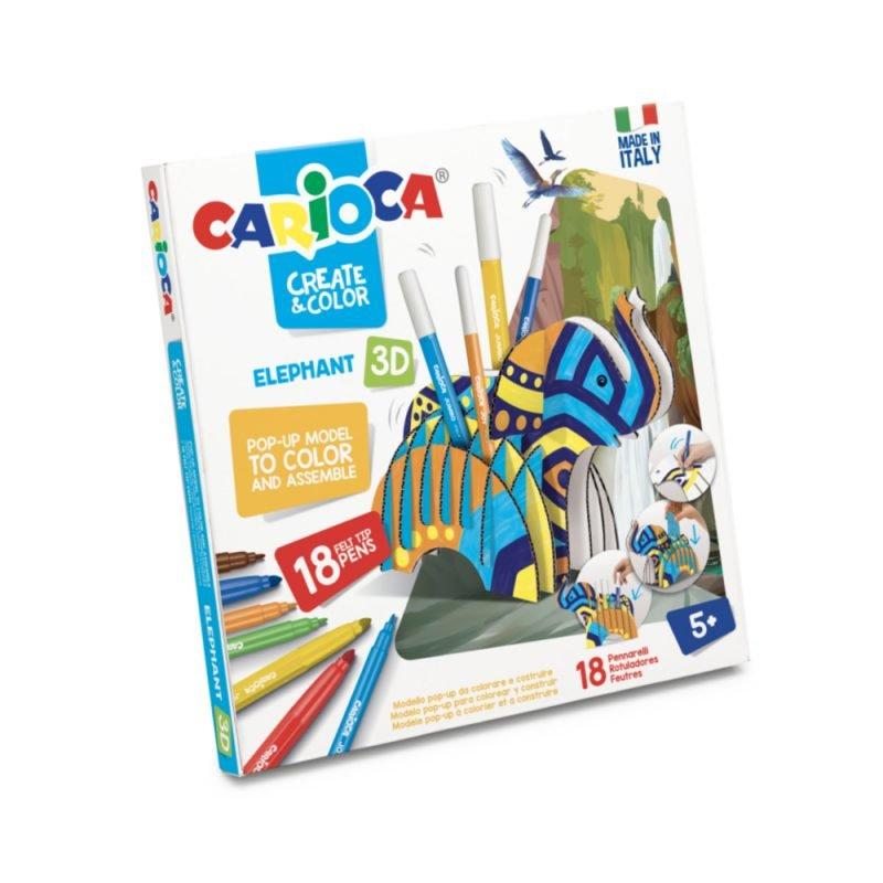 Set articole creative CARIOCA Create & Color - ELEPHANT 3D