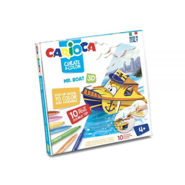 Set articole creative CARIOCA Create & Color - Mr. BOAT 3D