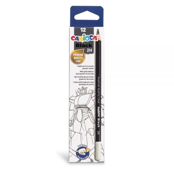 Creion CARIOCA duritate 2H, 12 buc/cutie
