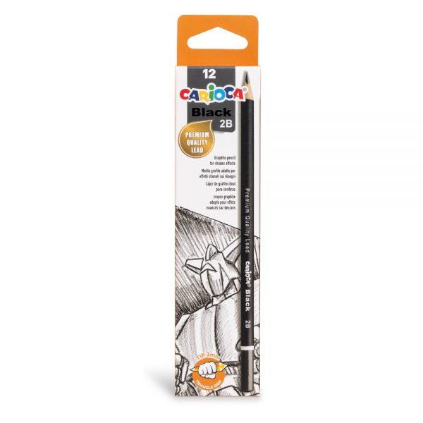 Creion CARIOCA duritate 2B, 12 buc/cutie