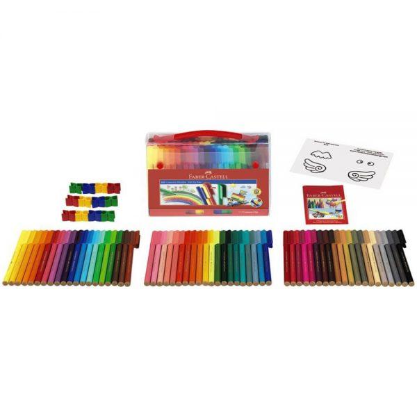 Carioci cu clip 60 culori Connector FABER-CASTELL