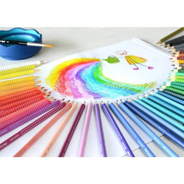 Creioane colorate 48 culori/set FABER-CASTELL Grip 2001