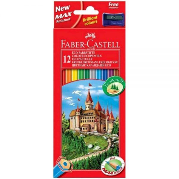 Creioane colorate eco 12 buc/set FABER-CASTELL