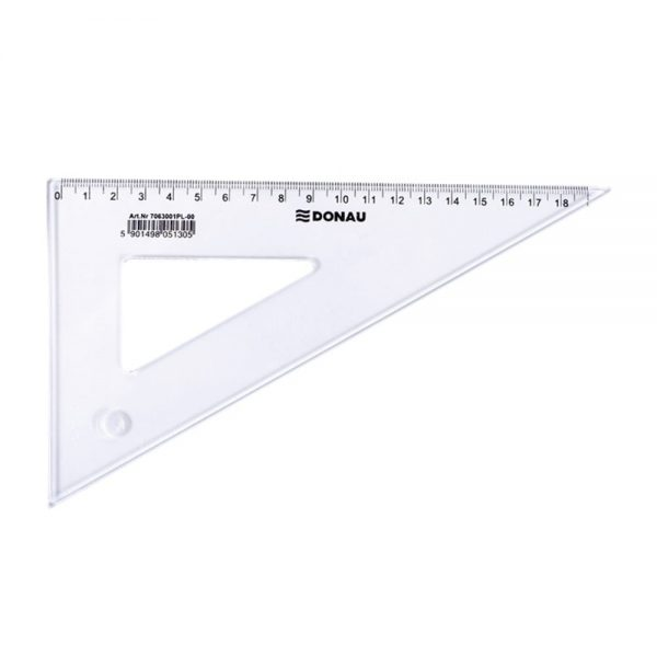 Echer 190mm 60 grade, DONAU - transparent