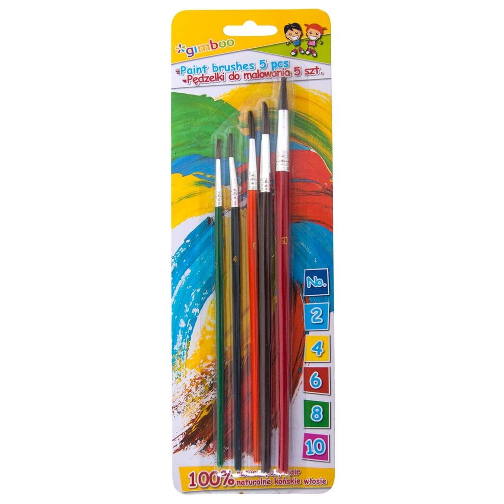 Set 5 pensule/blister (nr.2-4-6-8-10), GIMBOO - culori asortate